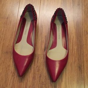 Funky Heeled Red Flats